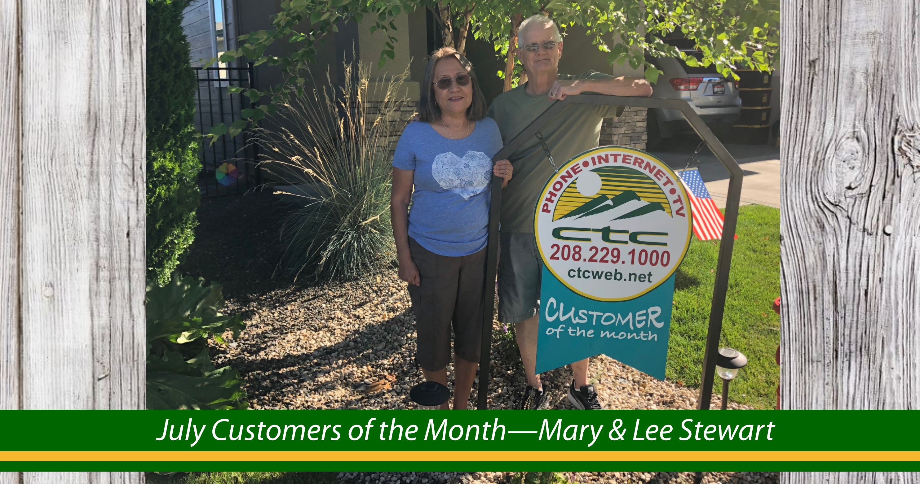 July Customers of the Month